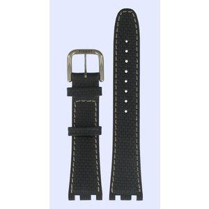 Tissot Tissot T37177012 Horlogeband Zwart Leer 20 mm