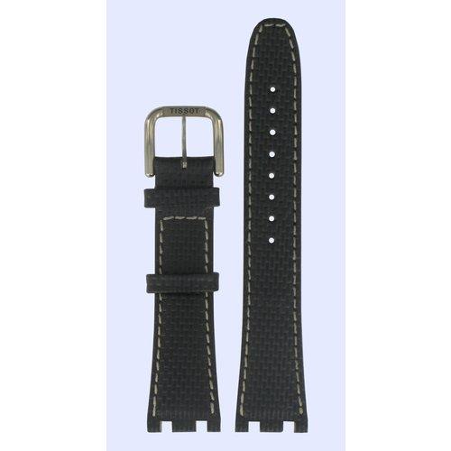 Tissot Tissot T37177012 Uhrenarmband Schwarz Leder 20 mm