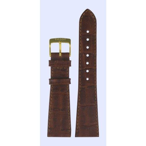 Tissot Tissot T71.3.610, T71.3.608, T71.2.608 Horlogeband Bruin Leer 21 mm
