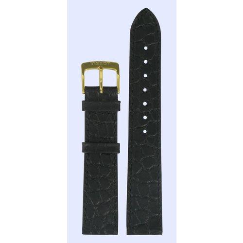 Tissot Tissot T7134, T7124 Carmel Uhrenarmband Schwarz Leder 18 mm