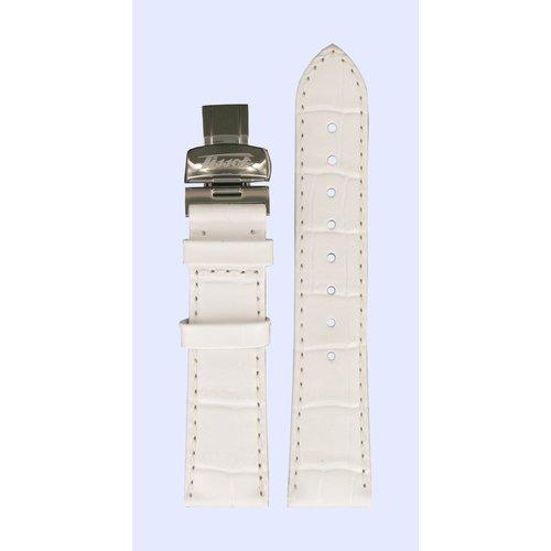 Tissot Tissot T66165782 Heritage Horlogeband Wit Leer 18 mm