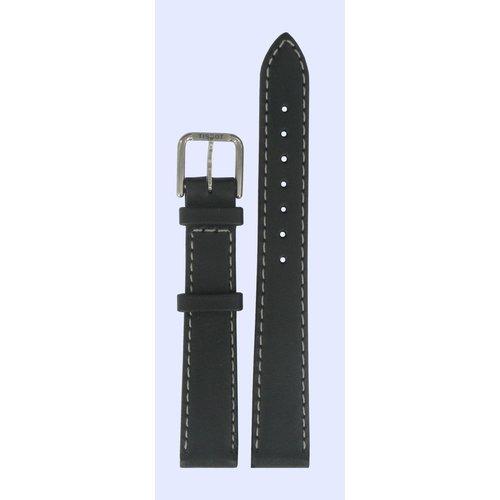 Tissot Tissot J326/426 T-Classic Horlogeband Zwart Leer 14 mm