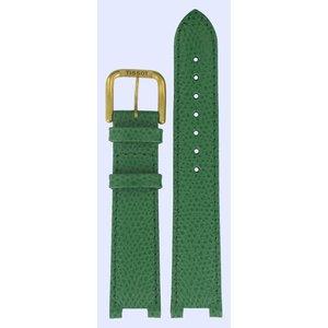 Tissot Tissot V136/236 Uhrenarmband Grün Leder 08 mm