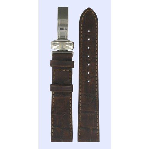 Tissot Tissot T46241663 Horlogeband Donkerbruin Leer 18 mm