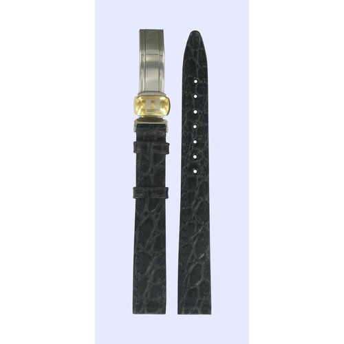 Tissot Tissot T49682513 Watch Band Black Leather 12 mm