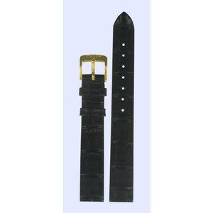 Tissot Tissot T7121 & T7131 Uhrenarmband Schwarz Leder 13 mm