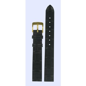 Tissot Tissot T7121 & T7131 Watch Band Black Leather 13 mm