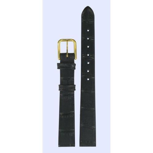 Tissot Tissot H634, G663, H636 Uhrenarmband Schwarz Leder 12 mm