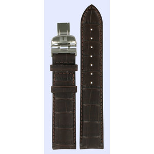 Tissot Tissot T361/461 - PRC200 Watch Band Dark Brown Leather 19 mm