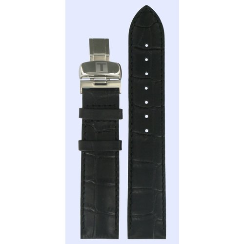 Tissot Tissot T006407 & T4114 Powermatic 80 Watch Band Black Leather 19 mm