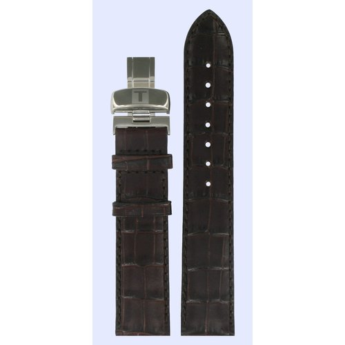 Tissot Tissot T54141333 Watch Band Dark Brown Leather 19 mm
