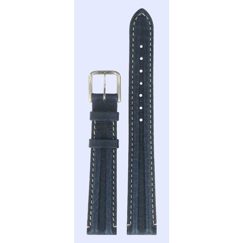 Tissot Tissot T1411 & T1421 PR-100 Watch Band Blue Leather 14 mm