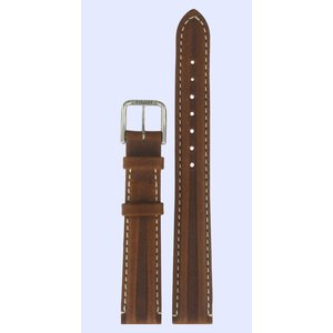 Tissot Tissot T14111132 Watch Band Brown Leather 14 mm