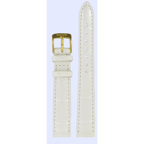 Tissot Tissot T71331171 Watch Band White Leather 14 mm
