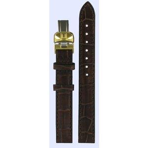 Tissot Tissot T41511313 Watch Band Dark Brown Leather 12 mm