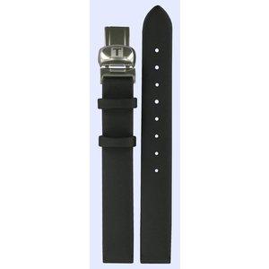 Tissot Tissot T0311, T0313 & T0314 Precious Uhrenarmband Schwarz Leder 12 mm