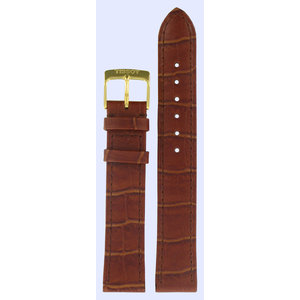 Tissot Tissot T7124 & T7134 Watch Band Brown Leather 17 mm