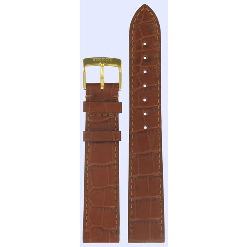 Tissot Tissot T7134 & T7136 Oroville Watch Band Brown Leather 18 mm