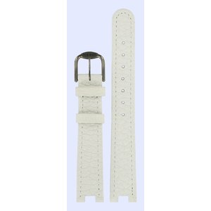 Tissot Tissot T51201100 & T51208110 Horlogeband Wit Leer 16 mm
