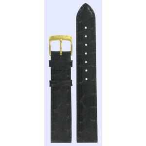 Tissot Tissot T7131371 Horlogeband Zwart Leer 17 mm
