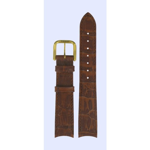 Tissot Tissot T46541113 Watch Band Brown Leather 18 mm