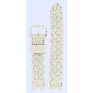 Tissot Tissot W150 - T53350200 Uhrenarmband Weiß Leder  mm