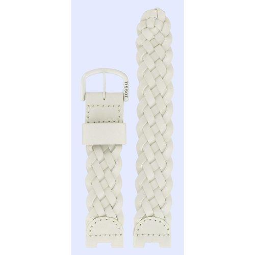 Tissot Tissot W150 - T53350200 Horlogeband Wit Leer  mm