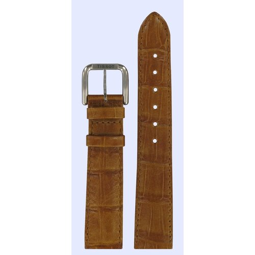 Tissot Tissot T42141113 Watch Band Brown Leather 18 mm