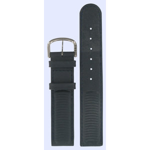 Tissot Tissot D380 - T64142151 Horlogeband Donkerblauw Leer 18 mm