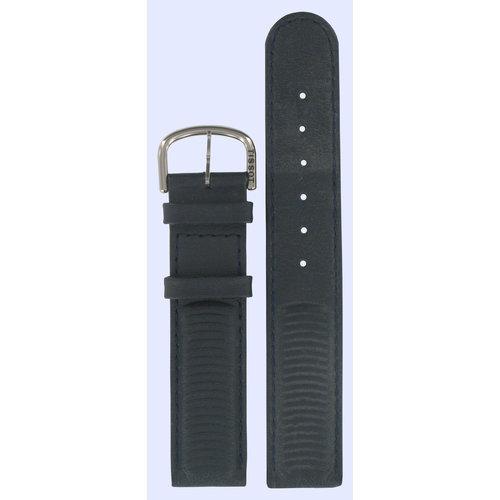 Tissot Tissot D380 - T64142151 Uhrenarmband Dunkelblau Leder 18 mm