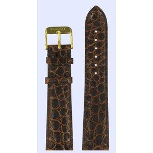 Tissot Tissot T71361932 Uhrenarmband Dunkelbraun Leder 15 mm
