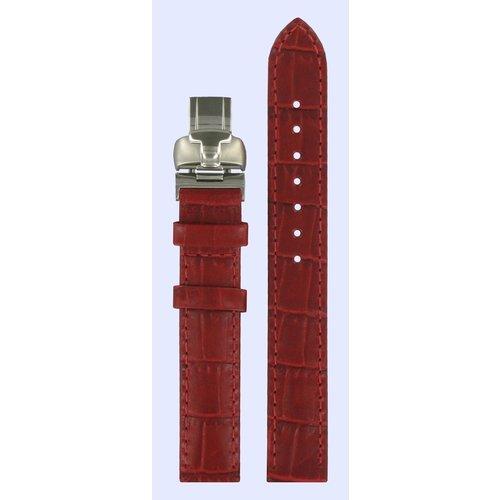 Tissot Tissot L750/850 - T023210 Horlogeband Rood Leer 14 mm