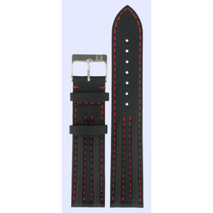 Tissot Tissot T34152852 XL Horlogeband Zwart Leer 19 mm