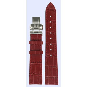 Tissot Tissot T22146681 Horlogeband Rood Leer 17 mm