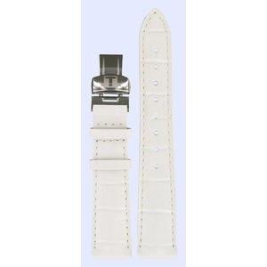 Tissot Tissot T22145621 Horlogeband Wit Leer 17 mm