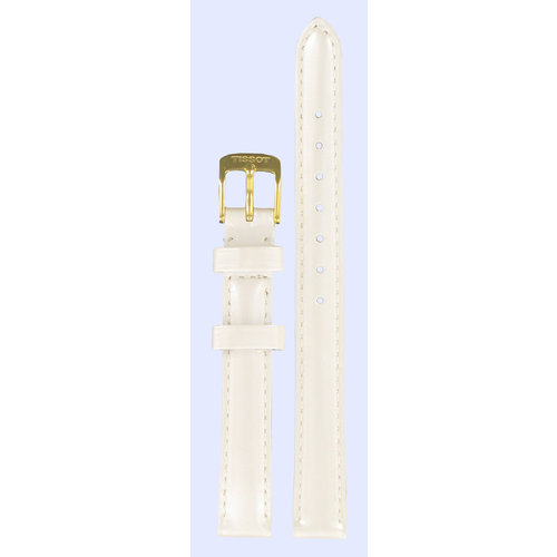 Tissot Tissot T71314776 & T71334632 Water Lily Watch Band White Leather 11 mm