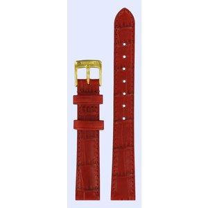 Tissot Tissot T71333574 Horlogeband Rood Leer 14 mm
