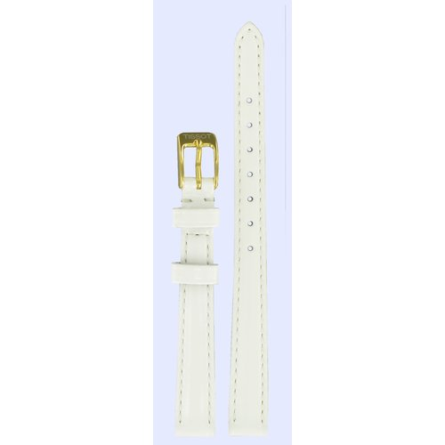 Tissot Tissot T71334334 & T71334134 Watch Band White Leather 10 mm