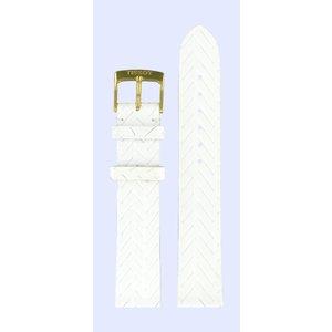 Tissot Tissot T71333632 Horlogeband Wit Leer 17 mm