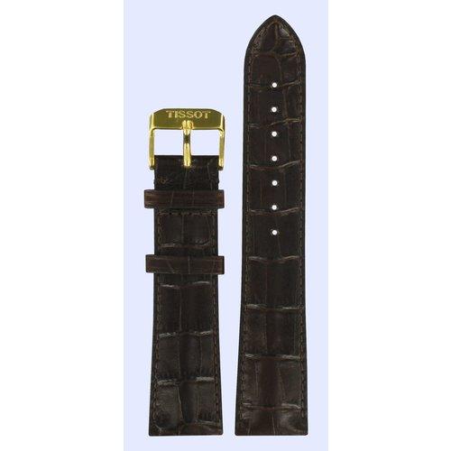 Tissot Tissot T71363234 Bracelet De Montre Brun Foncé Cuir 21 mm