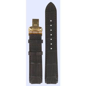 Tissot Tissot T71844511 Horlogeband Donkerbruin Leer  mm