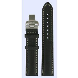 Tissot Tissot T014410A & T014421A Horlogeband Zwart Leer 19 mm