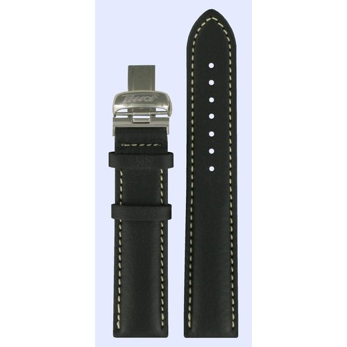 Tissot Tissot T014410A & T014421A Watch Band Black Leather 19 mm