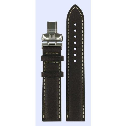 Tissot Tissot T014410A T-Sport Bracelet De Montre Brun Foncé Cuir 19 mm