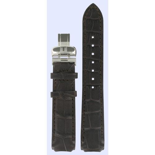 Tissot Tissot T71944531 Bracelet De Montre Brun Foncé Cuir  mm