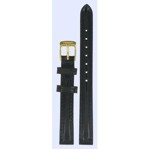 Tissot Tissot T71314876, T71314476 & T71334832 Horlogeband Zwart Leer 11 mm
