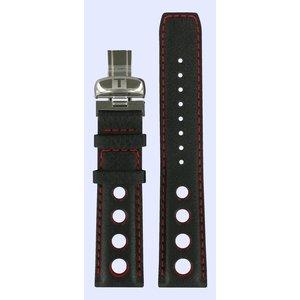 Tissot Tissot T021414A T-Sport Watch Band Black Leather 20 mm