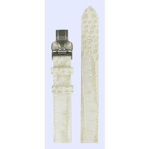 Tissot Tissot T02147582 Horlogeband Wit Leer 14 mm