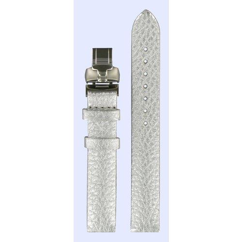 Tissot Tissot T02147582 Horlogeband Zilver Leer 14 mm