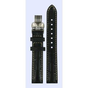 Tissot Tissot T007309A Horlogeband Zwart Leer 15 mm